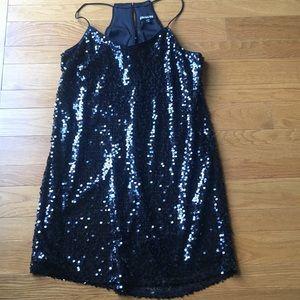 Black sequin Express dress